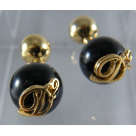 DSquared2 Gold and Black Cufflinks, classic jewelry for class and elegance occasions