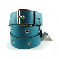 Ladies' Turquoise Burberry Bottalata Studded Belt
