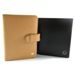Montblanc pocket organizer A7 pelle saffiano color cuoio H.A.W.A.M.