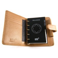 Montblanc Pocket organizer A7 leather brown Saffiano H.A.W.A.M.