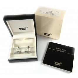 Montblanc Mont Blanc Stainless Steel Cufflink with 3 Rings Motif