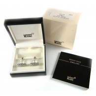 Montblanc Stainless Steel Cufflink with 3 Rings Motif
