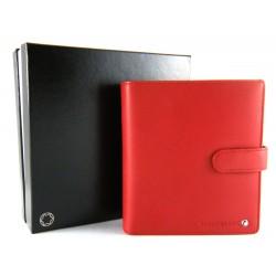 Montblanc Diaries and Notes agenda piccola rossa con chiusura a bottone