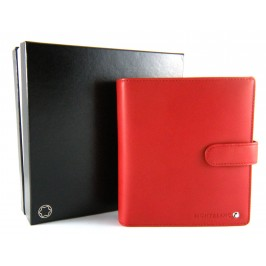 Montblanc Diaries and Notes agenda piccola rossa con chiusura a bottone