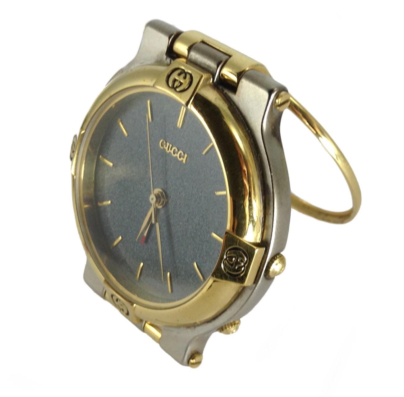 Late 80 39 S Gucci Travel Alarm Clock Vintage Carbon Grey