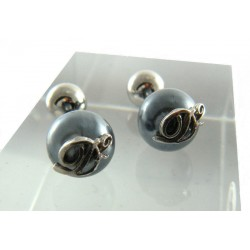 DSquared2 Cufflinks Palladium over Dark Grey , classic jewelry for class and elegance occasions