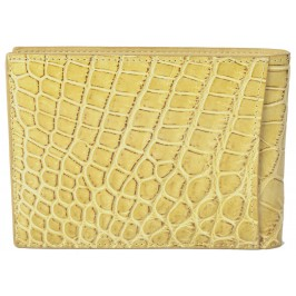 Exclusive Alligator Wallet using Bottega Veneta's own Custom Tan