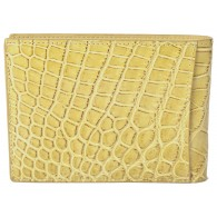Exclusive Crocodile Wallet using Bottega Veneta's own Custon tan Maracuja Leather