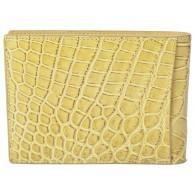 Exclusive Crocodile Wallet using Bottega Veneta's own Custon tan Maracuja Leather