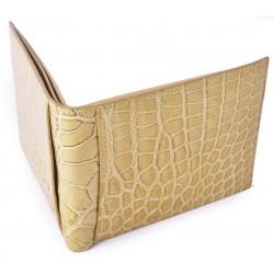 Exclusive Alligator Wallet using Bottega Veneta's own Custom Tan