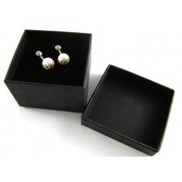 DSquared2 gemelli eleganti in palladio e perla per camicie classiche o su misura