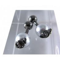 DSquared2 Cufflinks Ruthenium over Light Grey, DSquared2 emblem and ruthenium over bronze links