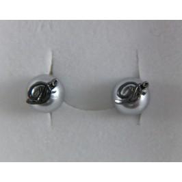 DSquared2 gemelli in rutenio e grigio chiaro, eleganti gemelli per ogni occasione