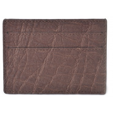 Men's Elephant Brown Credit Card Case & Business Card Holder
