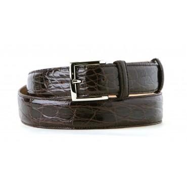 Cintura Elegante in Coccodrillo Nero