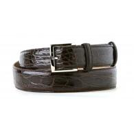 Dark Tan Alligator Dress Belt