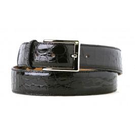Cintura in Coccodrillo Nero realizzata su misura