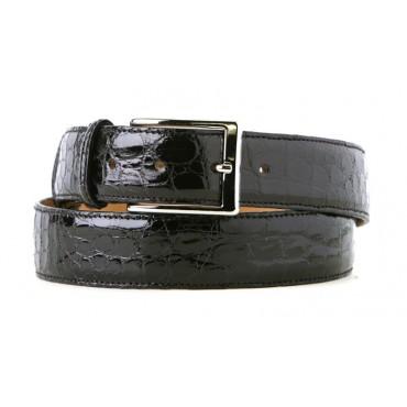 Black Alligator Dress Belt