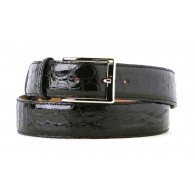 Black Alligator Dress Belt