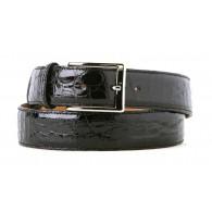 Cintura Nera da Vestito in Coccodrillo