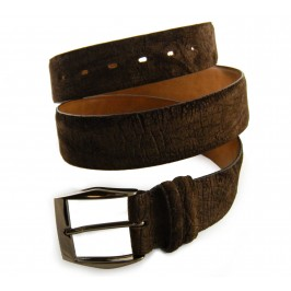 Custom artisan handmade Hippopotamus Belt 4cm Dark Brown
