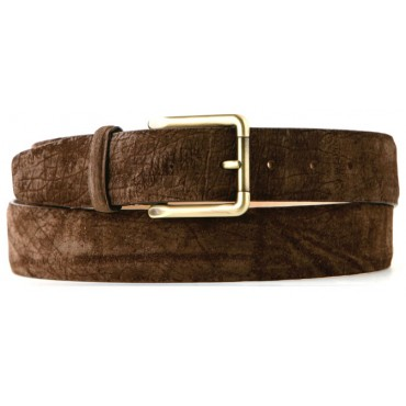 Hippopotamus Men's Belt 3.5cm width Savannah Brown
