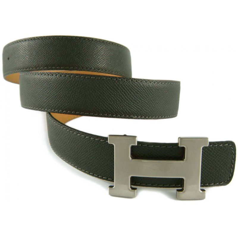 Charcoal Belt Strap Replacement Textured Leather
