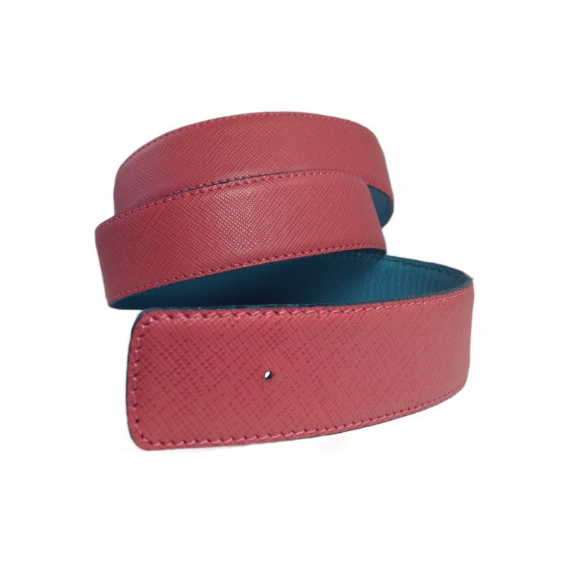 Fuchsia Belt Strap Replacement Textured Leather