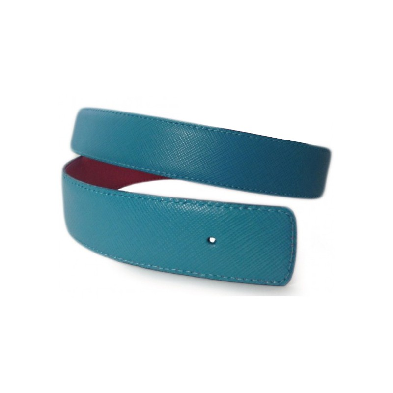 Bleu Celeste Belt Strap Replacement Textured Leather