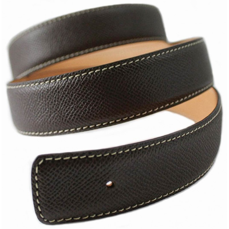Dark Tan Belt Strap Replacement Textured Leather