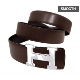 Reversible Smooth Calfskin Belt Strap Replacement for HERMES Buckles