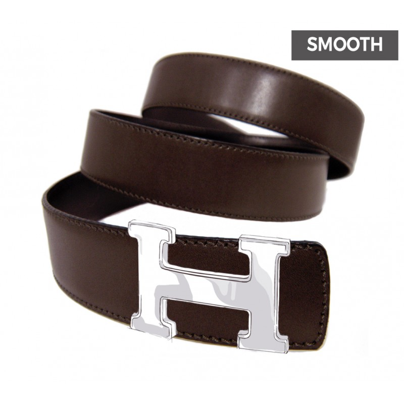 683f5c92c01 Reversible Smooth Calfskin Strap CLASSIC COLORS for HERMES Buckle Belt Kit   Reversible Dark Tan Smooth Calfskin Strap for HERMES Buckles ...