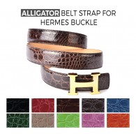 Alligator Belt Strap for HERMES Buckle Belt Kit: Color Choice