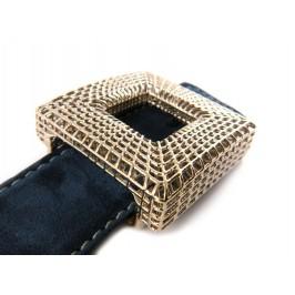 Cintura da donna Scamosciata con esclusiva Fibbia Cubica Reticube: scelta colore