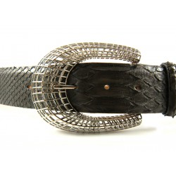 Ladies' 4cm Snake Skin Belt with Oriental Horseshoe Buckle: color choice