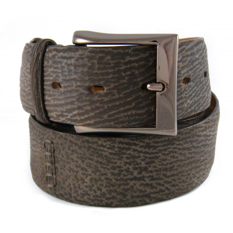 Cintura su Misura 4cm in Squalo Marrone con effetto ...