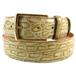 Bottega Veneta Custom Tan Maracuja Alligator Belt for the most demanding Man