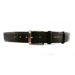 Man Dark Brown Stingray Leather Belt 4cm width