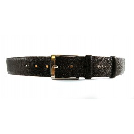 Man Dark Brown Stingray Leather Belt 4cm width