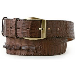 Atelier Brown Alligator Belt Caiman Fuscus Crocodilus