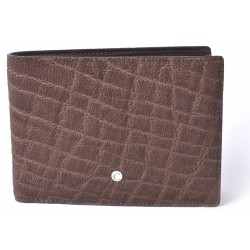 Men's Brown Horizontal Elephant Wallet