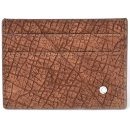 Men's Hippopotamu Credit Card Case & Business Card Holder Savannah Brown