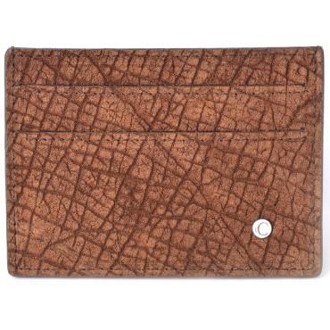 Portafoglio Carte di Credito in Ippopotamo Marrone Savana