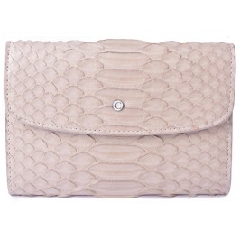 Women's Cream Snake Skin Wallet