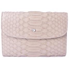 Women's Cream Snake Skin Wallet