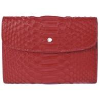 Women's Red Snake Skin Wallet