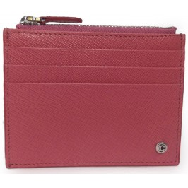 Porta Carte di Credito da Donna Rosa con Zip in Vitello