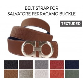 Belt Strap Replacement for SALVATORE FERRAGAMO Buckle Textured Leather