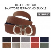 Reversible Belt Strap Replacement for SALVATORE FERRAGAMO Buckle Textured Leather