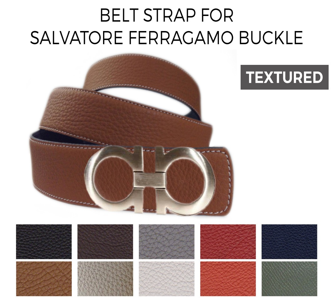 Belt Strap Replacement for SALVATORE FERRAGAMO Buckle Textured Leather - La  Petite Croisette